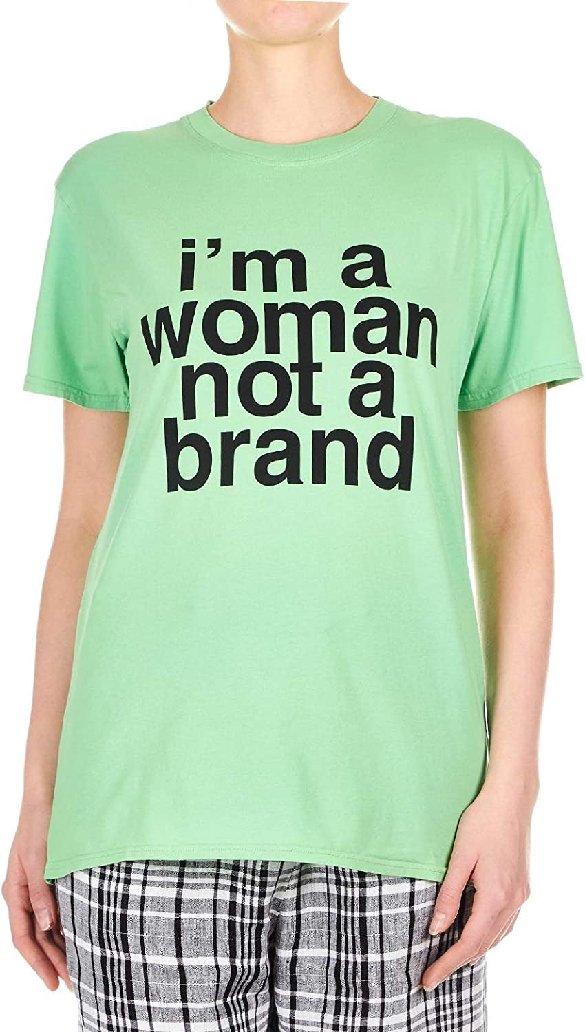 Erika Cavallini Women's P9PW23R85 Green Cotton TShirt
