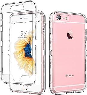 9fc2fa7c281 DUEDUE Funda iPhone 6, Funda iPhone 6S Transparente Cristal Resistente  Cuerpo Completo Antigolpes 3 en