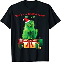 You're A MEOW One Mr. Cat Christmas Holiday Funny T-Shirt