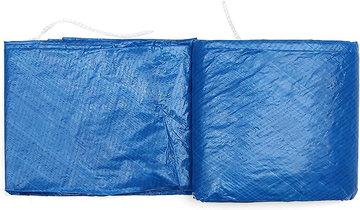 Weskjer Cubierta de Piscina, Cubierta de Piscina a Prueba de Lluvia y Polvo, el diseño de cordón es Adecuado para Piscinas Redondas sobre el Suelo (366cm)