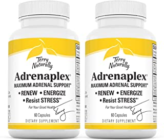 Terry Naturally Adrenaplex (2 Pack) - 60 Capsules - Maximum Adrenal Support Supplement, Promotes Daily Energy, Mental Focu...