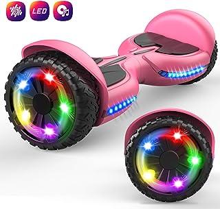 GeekMe 6.5 Pulgadas Hoverboard Scooter Eléctrico Auto Equilibrio Inteligente Built-in Bluetooth Speaker Flashing LED Luces para Niños y Adultos