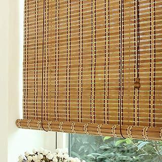BCGT Stores à rouleaux bambou avec 15cm Valance, léger rideau de bambou for Windows et porte, Largeur 80/105/125 / 145cm (...