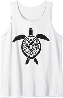 Mens Yin Yang Hawaiian Island Turtle Sleeveless Tank Tops Athletic tee