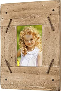 Excello Global Products Rustic Distressed Wood Frame: Holds an 3