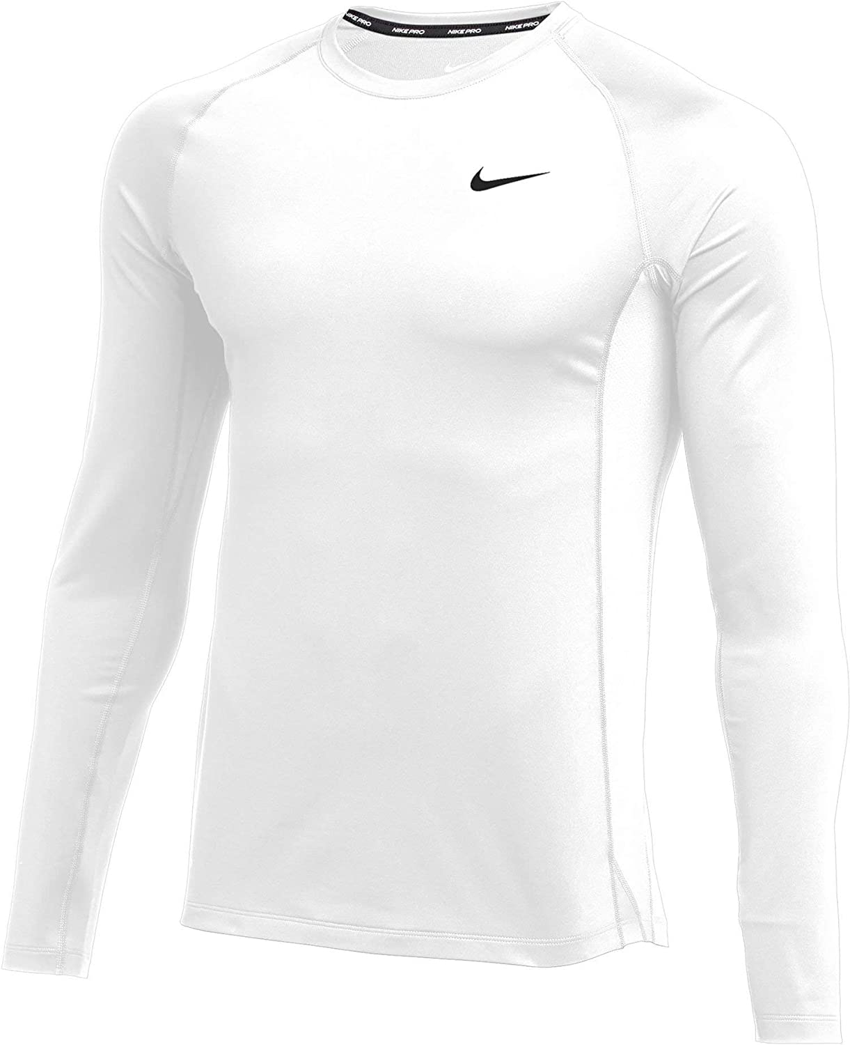 Product Nike Many popular brands Men's Pro Fitted Long White Sleeve Black Top