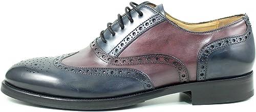 zapatos para Hombre Giorgio rea Elegante Hombre zapatos Hecho A Mano EN Italia Cuero Real Brogue Oxfords Richelieu