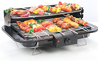 Smokeless Electric Grill Non Stick Coating Temperature Control Portable BBQ Grills With Oil Drip Pan Ideal For 2-10 People...