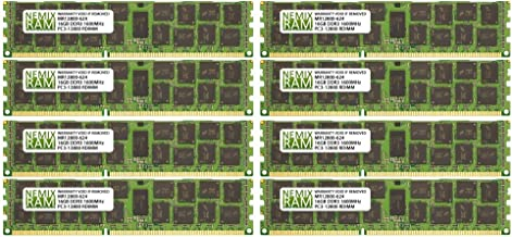 128GB (8x16GB) DDR3-1600MHz PC3-12800 ECC RDIMM 2Rx4 1.5V Registered Memory for Server/Workstation