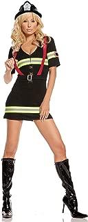 Sexy Fireman Costume, Black, Large