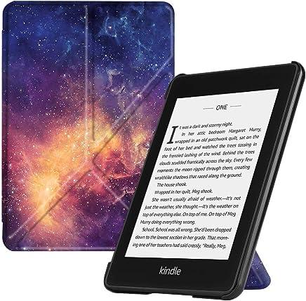 Fintie Origami Funda para Kindle Paperwhite (10.ª generación, 2018) - Carcasa de Cuero Sintético Función de Soporte y Auto-Reposo/Activación, Galaxy