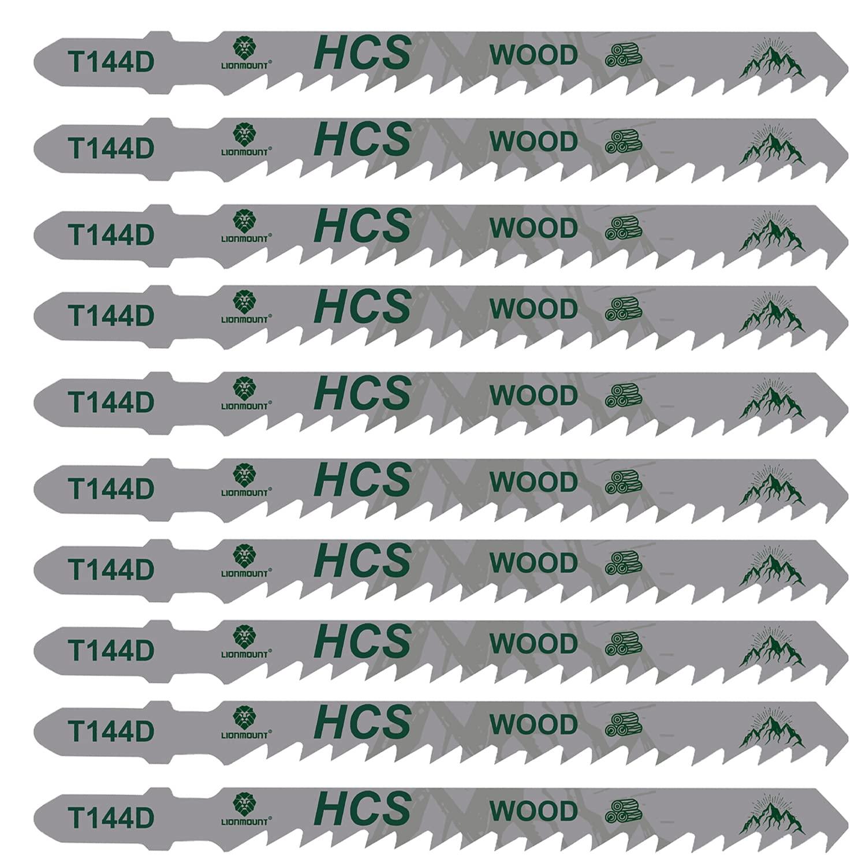 Attention brand Lionmount Super intense SALE 10 PCS T144D Jigsaw Blades Case Set HCS Storage with
