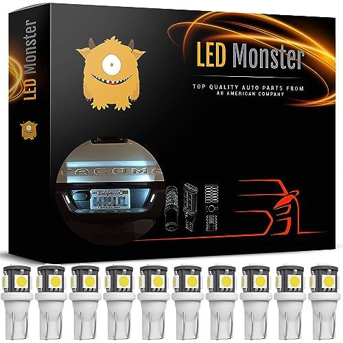 LED Monster 10x 168 194 T10 5SMD LED Bulbs Car License Plate Lights Lamp White 12V