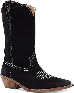 Patricia Nash Womens Bergamo Suede Stacked Heel Cowboy, Western Boots
