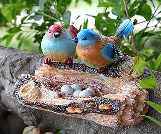 Garden Bird Statue - Outdoor Bird Figurine - Yard Art Figurines for Patio Lawn