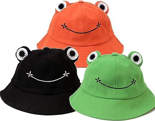 wholesale 3 2021 Pack Cute Bucket Hat for Kids Adult Spring Autumn Cotton Sun popular Hat Cute Animal Printed Outdoor Beach Sun Cap Wide Brim Fisherman Hat sale
