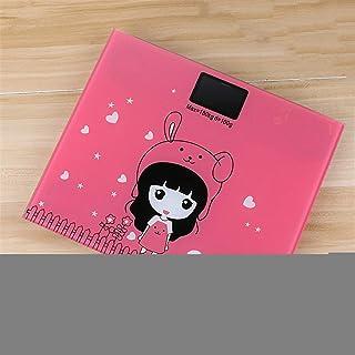 HUANGDANSEN Báscula de baño Báscula de baño Báscula de Salud Humana Mini Sensor de Pantalla LCD de Vidrio Digital Pérdida de Peso Báscula de baño