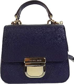 Michael Kors Bridgette Navy Saffiano Leather Mini Top Handle Crossbody Bag