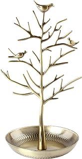 Discoball–Présentoir à Bijoux/support/support–Neuf Argent antique Bronze Oiseaux Arbre Boucles d'oreilles Collier Brac...