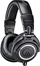 Audio-Technica ATH-M50x Professional Studio Monitor Headphones, Black, Professional Grade, Critically Acclaimed, With Deta...