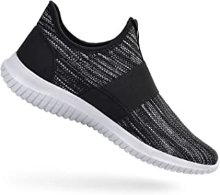 Mens Slip On Sneakers Laceless Lightweight Gym Running Walking Shoes