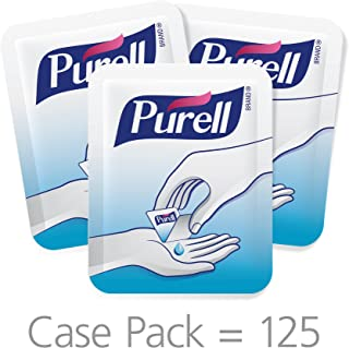 Purell Advanced Hand Sanitizer Singles - Travel Size Single Use Individual Portable Boxes (125 Packs