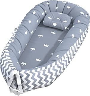 Baby Lounger, Baby Nest and Baby Bassinet, Portable Ultra Soft Breathable Newborn Lounger Crib, Perfect for Co-Sleeping an...