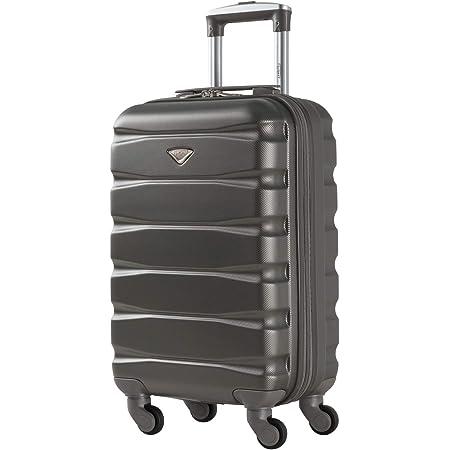 Flight Knight ABS 3 Tailles Valise Legere Compatible avec Air France, Hop! easyJet, RyanAir Et Bien d'autres! Bagage a Main 55x35x20 cm Et Bagage en Soute Grande avec 4 Roues.