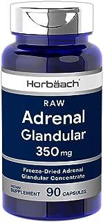 Raw Adrenal Glandular | 350 mg | 90 Capsules | Non-GMO, Gluten Free Supplement | by Horbaach