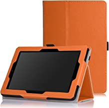 MoKo Case for Fire HD 7 2014 - Slim Folding Cover with Auto Wake/Sleep for Amazon Kindle Fire HD 7 Inch 4th Generation Tablet (Not Fits HD 7 2015), Orange