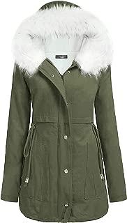 iClosam Womens Warm Hoodie Faux Fur Lined Down Parka Coats Outdoor Long Jacket Overcoat Outwear