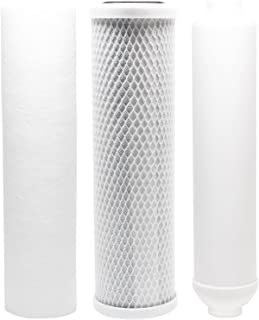 Compatible for Replacement Filter Kit for Puromax PC4 RO System - Includes Carbon Block Filter, PP Sediment Filter & Inline Filter Cartridge