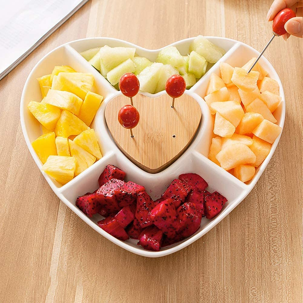Details about  /Avocado Shape Ceramic Fruit Salad Bowl Strawberry Dessert Plate Snack Dish