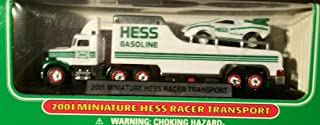 HESS 2001 MINI RACE CAR TRANSPORT TRUCK - 4th ISSUE by HESS COLLECTIBLE