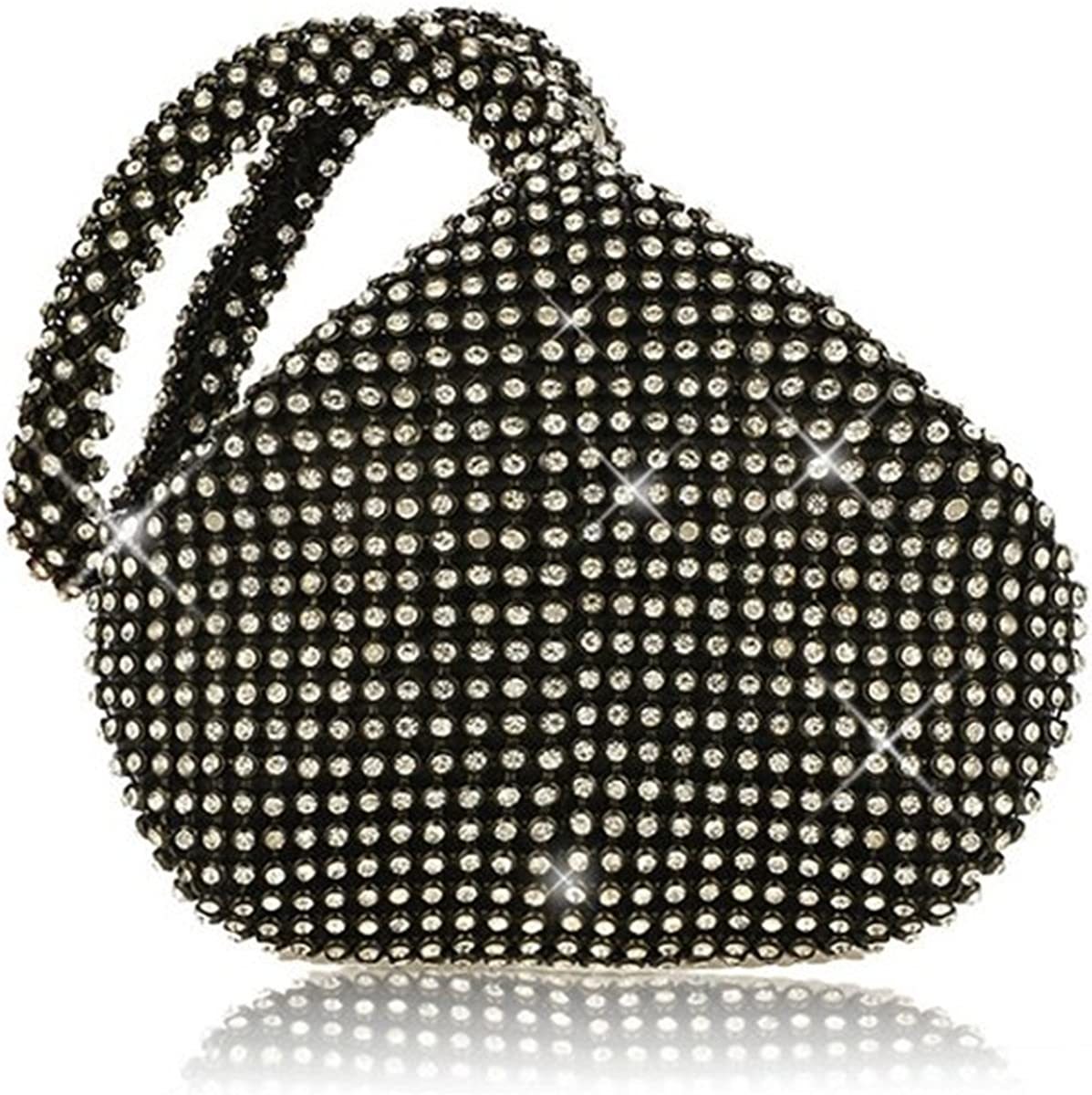 1920s Style Purses, Flapper Bags, Handbags Mogor Womens Triangle Bling Glitter Purse Crown Box Clutch Evening Luxury Bags Party Prom  AT vintagedancer.com