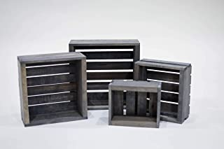 Darla'Studio 66 Antique Gray Stained- Rustic Wood Crates- Set of 4