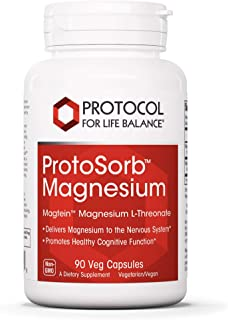 Protocol For Life Balance - ProtoSorb Magnesium - Supports Nervous System and Healthy Cognitive Function with Enhanced Absorption Formula - 90 Veg Capsules