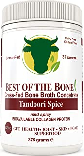 Premium Beef Bone Broth Concentrate Tandoori Flavor- 100% Sourced From AU Grass-Fed, Pasture-Raised Cattle - Healthier Skin & Nails, Healthy Digestion - Bone Broth Collagen
