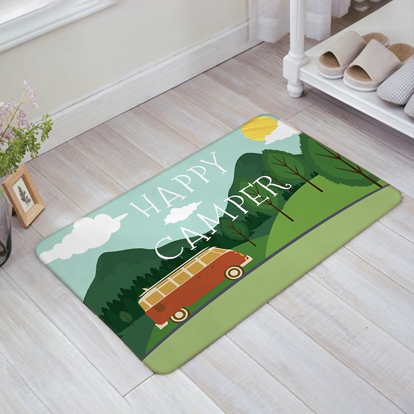 Family Decor Door Mat Indoor/Outdoor Non Slip Entrance Front Doormat Area Rugs, 23.6