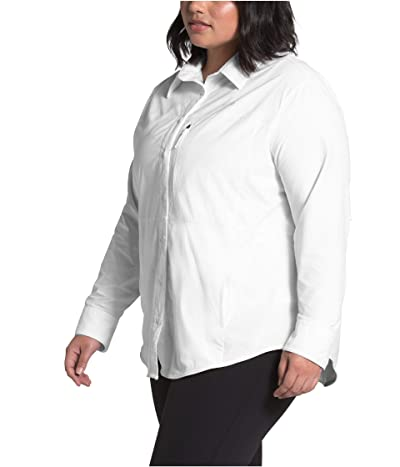 The North Face Plus Size Outdoor Trail Long Sleeve Shirt (TNF White) Women