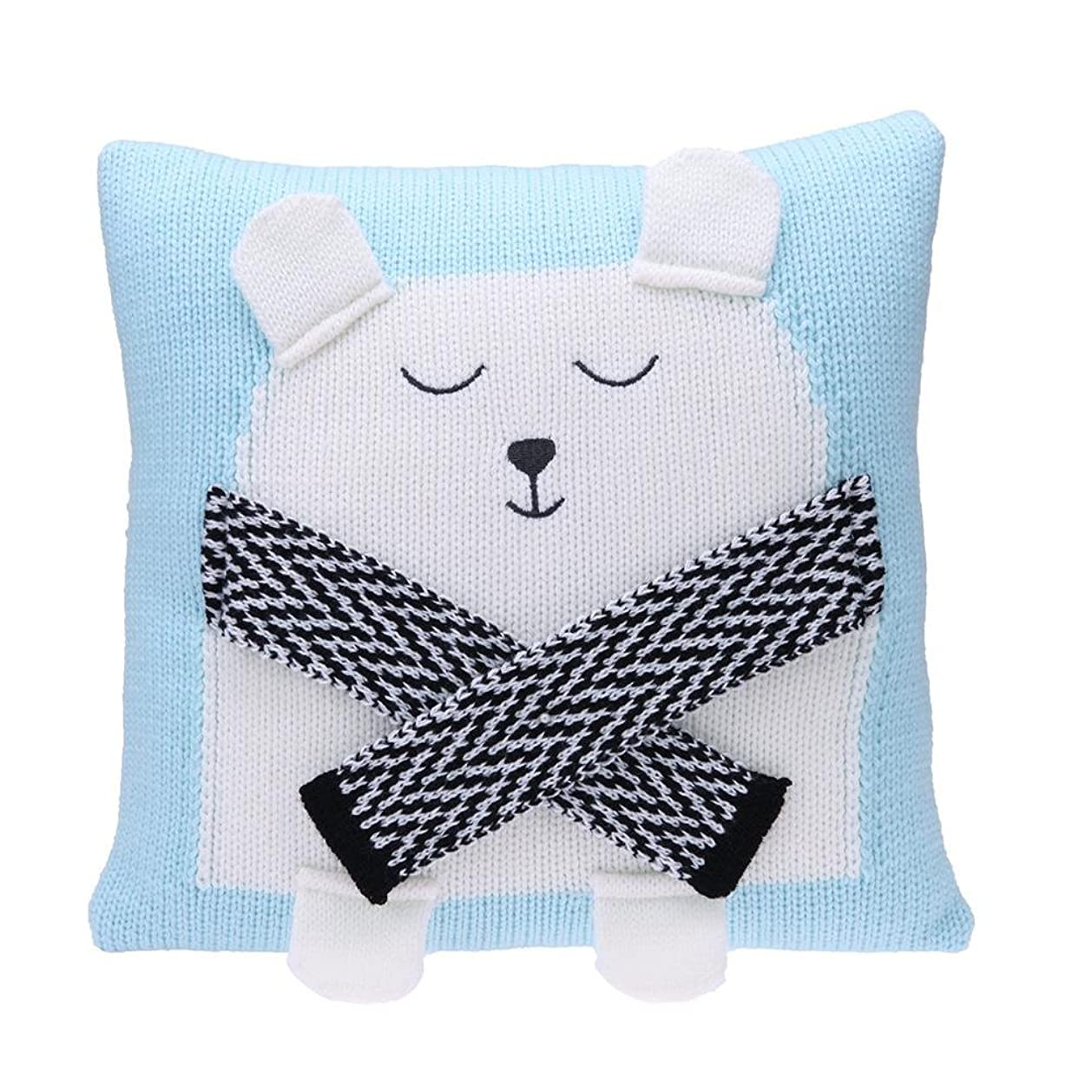 緊張する月収縮Tuankay 枕カバー 抱き枕カバー クッションカバー 35x35cm 柔らか ソファー 車 子供 可愛い クマ