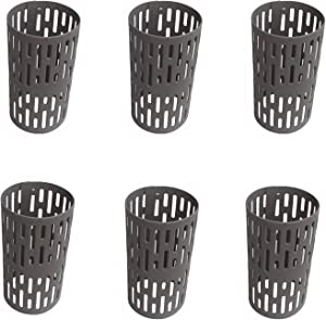 RAIKEDR Plastic Tree Trunk Protectors, Nursery Mesh Tree Bark Protector - Tree Guard, Prevent Damage from Trimmers, mowers, Rodents (6 Pack)