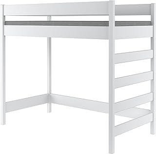 Lit superposé par Hubi Loft Bunk Bed, Bois dense, blanc, 200x90x160