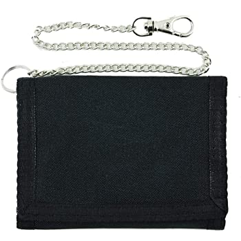 New  German Sport Tri Fold Wallet with Safety Chain