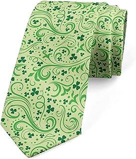 Corbata, remolinos y hojas fortuna, verde pálido verde esmeralda ...