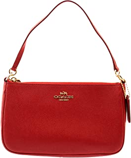 COACH Top Handle Pouch In Red, F25591
