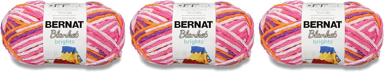 Bernat Blanket Brights- Packs Of 3 Balls- 300G Each Ball- Jump Rope Varg B07PN6KX98 | Mittlere Kosten