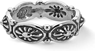 American West Sterling Silver Concho Style Band Ring Size 05 to 10