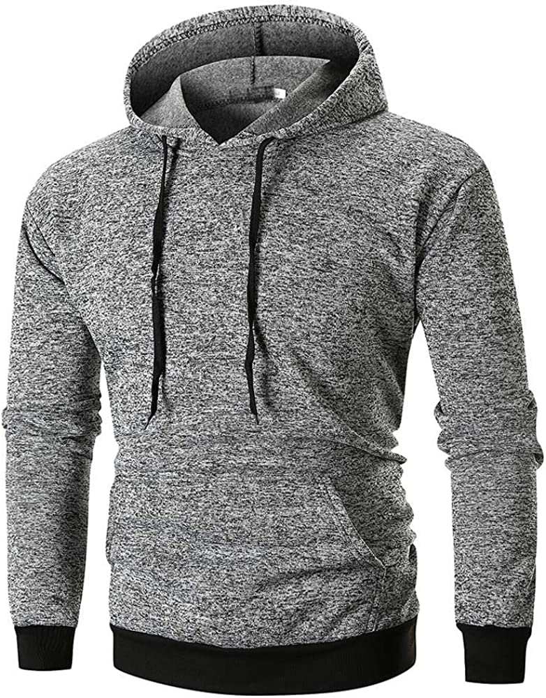 Men's Hoodies Pullover Clearance, Mens Autumn Winter Casual Long Sleeve Solid Zipper Sports Outwear Hooded Sweatshirts