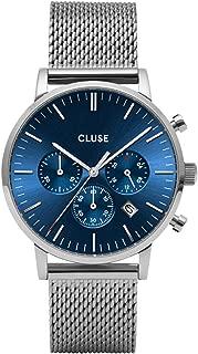 Cluse Men's Aravis 40mm Steel Bracelet & Case Quartz Blue Dial Analog Watch CW0101502004